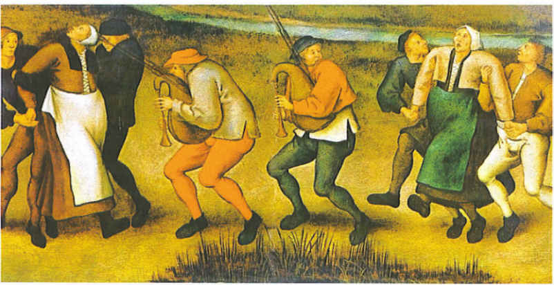 St. Vitus dancers as envisioned by Peder Breughel